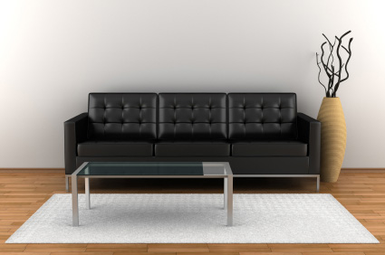 Enkelt soffbord i glas